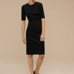 Aritzia Babaton Kramer Black Suede Shift Dress 0